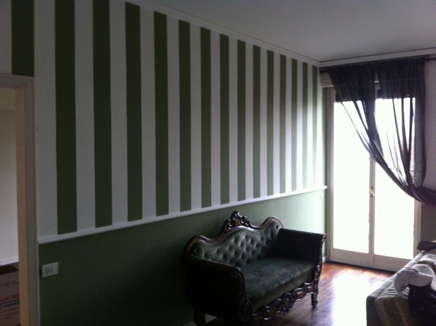 Pareti A Righe Verdi : Come dipingere muro a righe pareti a righe orizzontali o