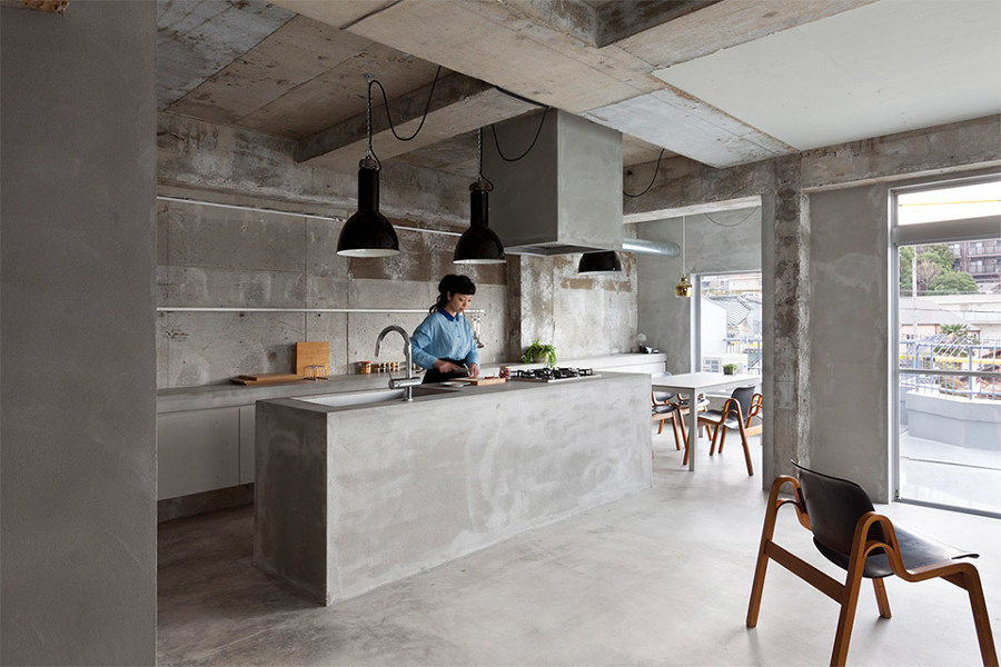Piano Cucina In Cemento. Great Top Cucina Cemento Idee Di Design Per ...