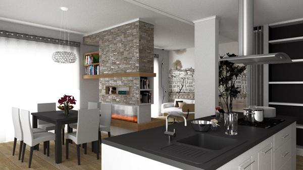 Soggiorno Living Con Cucina. Beautiful Pro Tazione Soggiorno Con ...
