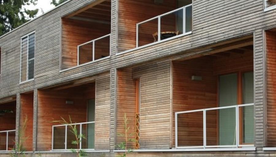 vogliamo mostrarvi limmagine di un complesso di case prefabbricate ...