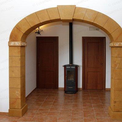 archi rivestiti in finta pietra