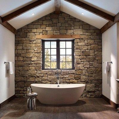 bagno rustico di design