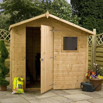 Costruzione casetta in legno da giardino idee e costi - Porta attrezzi da giardino ...