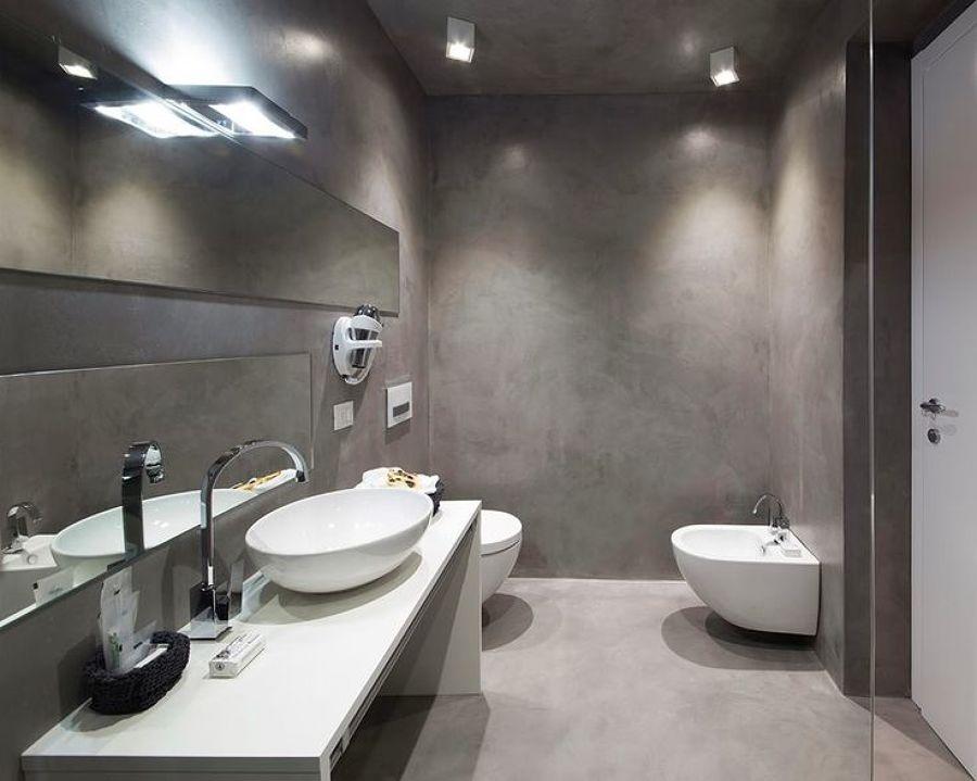 Rivestire pareti con cemento resina confronta prezzi habitissimo - Bagno in cemento resinato ...