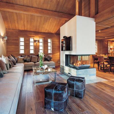 Dipingere una casa di campagna in stile scandinavo