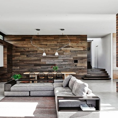 I vari metodi e materiali per coprire una parete in casa habitissimo - Parete in legno per interni ...