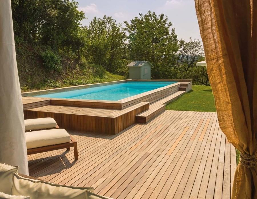 Come costruire una piscina in acciaio costi e consigli - Piscine in acciaio fuori terra ...