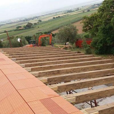 Costruzione casa grezzo avanzato:  tetto