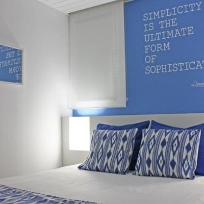 Decorazione parete letto