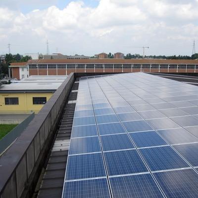 Impianto fotovoltaico con potenza di 140 KW