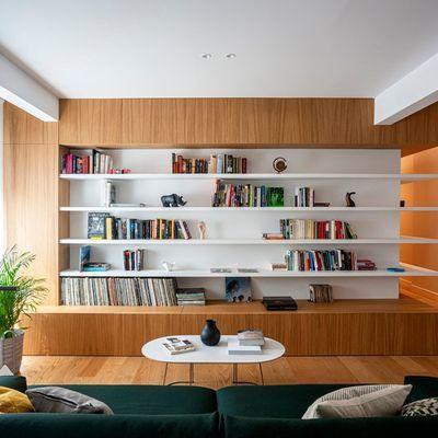 Libreria a muro su misura