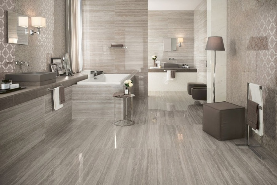Costi e stili di pavimenti in gr s porcellanato habitissimo - Scale gres porcellanato ...