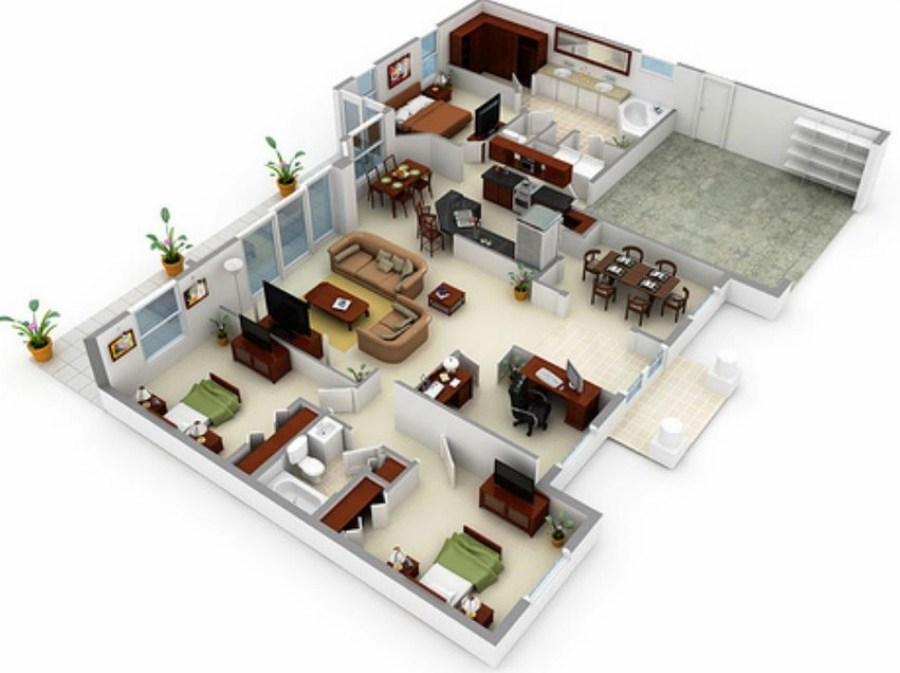 Preventivo piantina casa online habitissimo for Progetto arredamento online