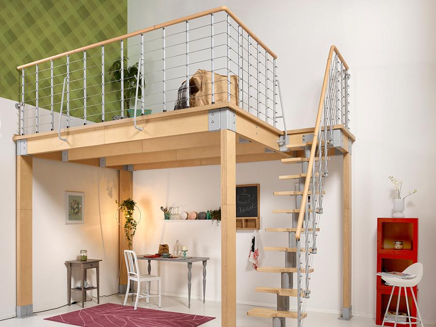 Prezzi e leggi per la costruzione di un soppalco habitissimo - Soppalco in legno autoportante ...
