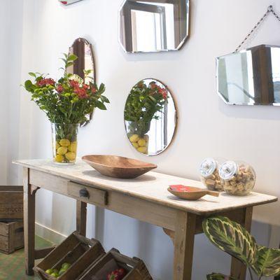 Specchio con vetro acidato