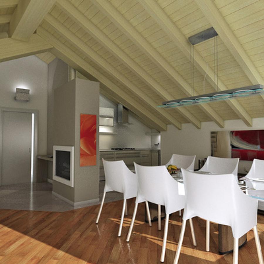 Prezzi e tipologie di tetti in legno habitissimo for Tettoia inclinata del tetto