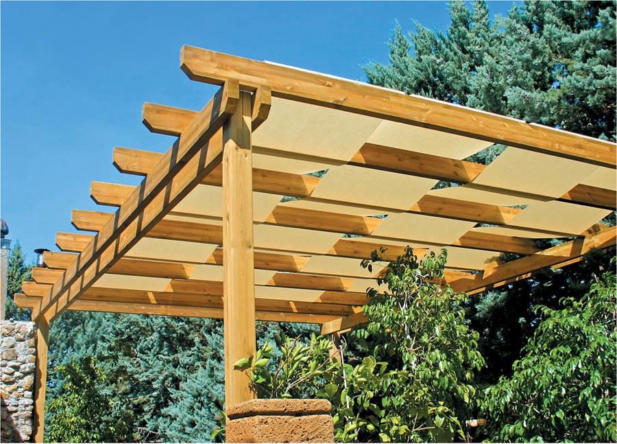 Tende per tettoie in legno tb85 pineglen - Tettoie in legno per esterno ...