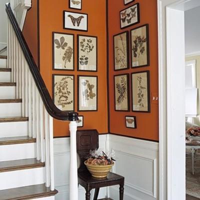 Dipingere l'anticamera con un caldo arancione