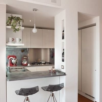 Una cucina piccola a cui non manca nulla