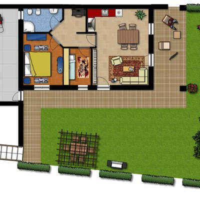 Prezzi piantina casa online habitissimo for Arredo giardino dwg