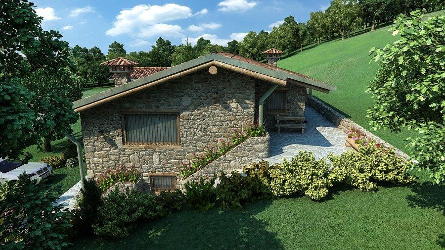 Villa singola in montagna