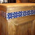 Armadio in legno dettaglio