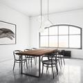 Tavolo legno e ferro