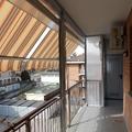 Chiusura completa balcone con tenda veranda doppio rullo estiva e invernale e pannelli fissi