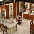 Cucina classica effetto muratura