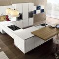 Cucina Componibile su misura moderna con piano in quarzite
