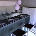 Cucina minimal con isola bar - foto2