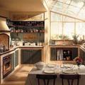 Cucina stile muratura
