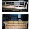 .....Dal fusto in legno massello, al prodotto finito. Un divano tre posti interamente sfoderabile e lavabile