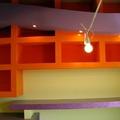 Decorazione libreria con resine