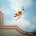 Dettaglio di decorazione su soffitto
