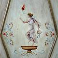 Dettaglio porta dipinta