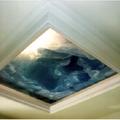 Diffusore luce con Botola a soffitto decorata de La Bottega degli Stucchi