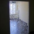 Doppia porta scorrevole in cristallo