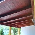 Pulizia veranda in legno