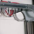 Impianto con sistema su canale zincato