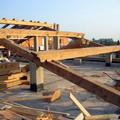 inizio struttura tetto in legno di rovere