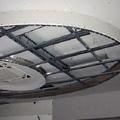 l'anteprima di una struttura per cartongesso per un soffitto ribassato ovalmente.