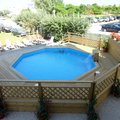la piscina in legno
