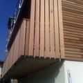 lavoro facciata legno di cedro a doghe