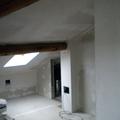 Mansarda: pareti -soffitti rivestiti in cartongesso e isolante