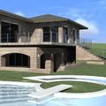 Rendering di Studio Villa con piscina