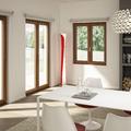Finestra e porte finestre a due ante battenti con ribalta e microventilazione