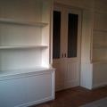 parete attrezzata con vetrata