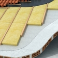 Particolare di tetto con coibentazione termica