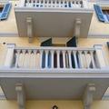 Particolari balconi dopo la ristrutturazione